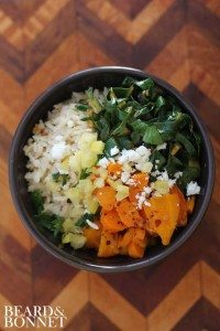 carrot and greens bowl