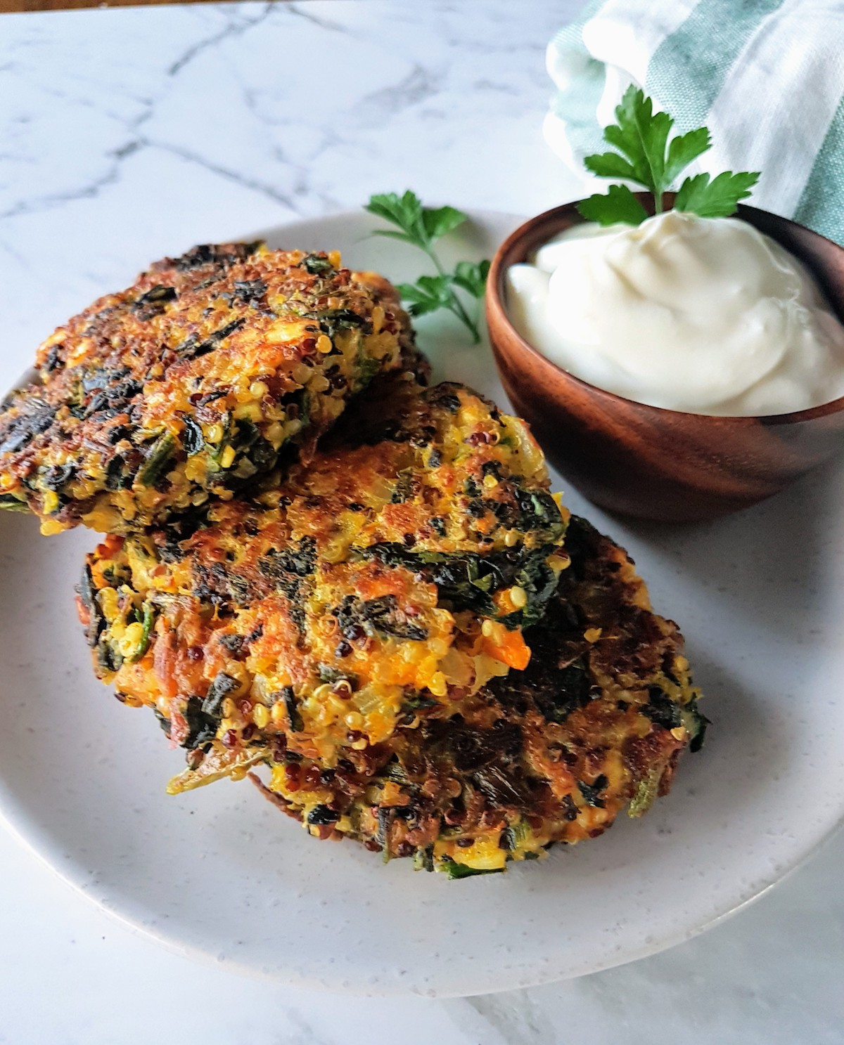 My family loves these Winter Grain & Veggie Cakes.  What I like most about them is the versatility.  You basically combine grains that work for the season.